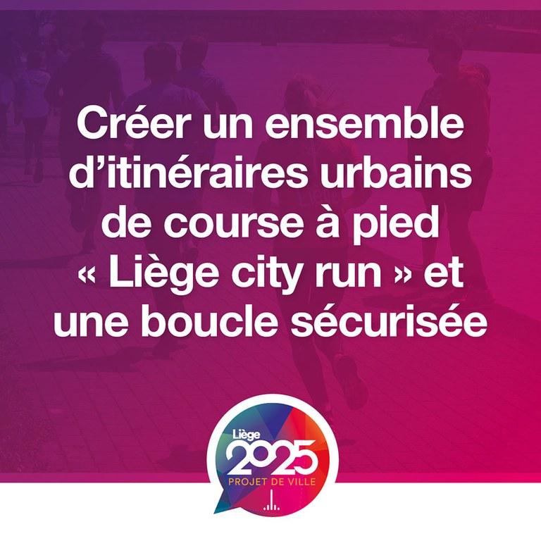 Programme stratégique transversal Liège city run